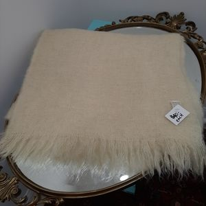 Vintage Mohair throw blanket made in Scotland